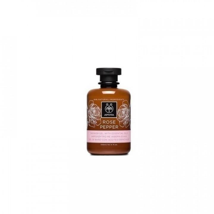 Apivita Body Shower Gel Rose Pepper 300ml