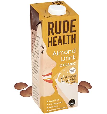 Rude Health BIO ALMOND DRINK GLUTEN FREE x 1 Ltr