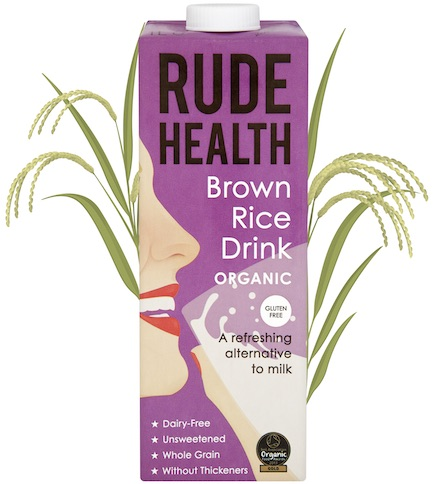 Rude Health BIO BROWN RICE DRINK GLUTEN FREE x 1 Ltr