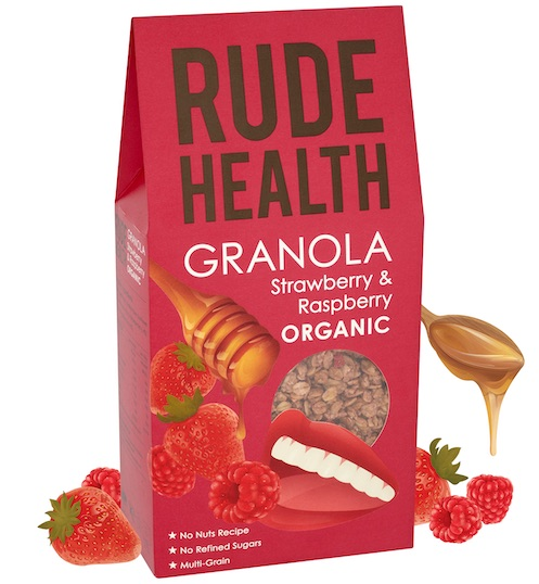 Rude Health BIO STRAWBERRY & RASPBERRY GRANOLA