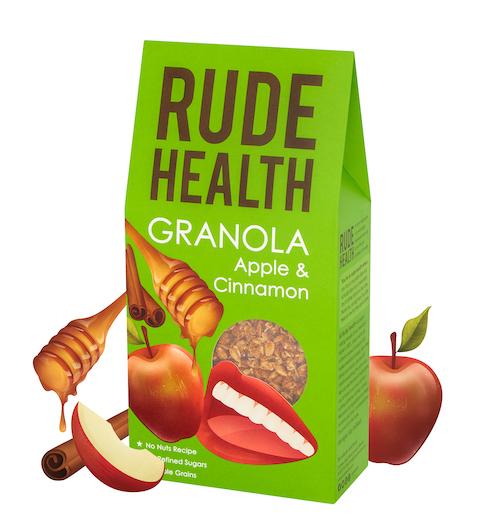 Rude Health BIO APPLE & CINNAMON GRANOLA