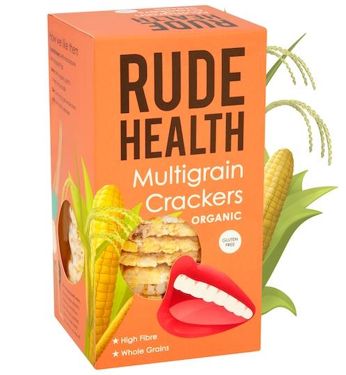 Rude Health BIO MULTIGRAIN CRACKERS GLUTEN FREE