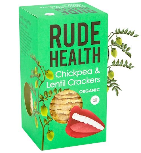 Rude Health BIO CHICKPEA & LENTIL CRACKERS GLUTEN FREE
