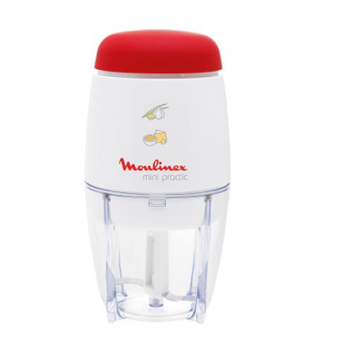 Moulinex DJ110160 Mini Practic Chopper, White & Red