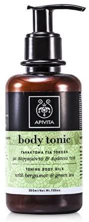 APIVITA Tonic BODY MILK with GREEN TEA & BERGAMOT 200ml