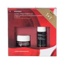 KORRES SET WILD ROSE Face Cream & Face Serum for Normal/Dry Skin