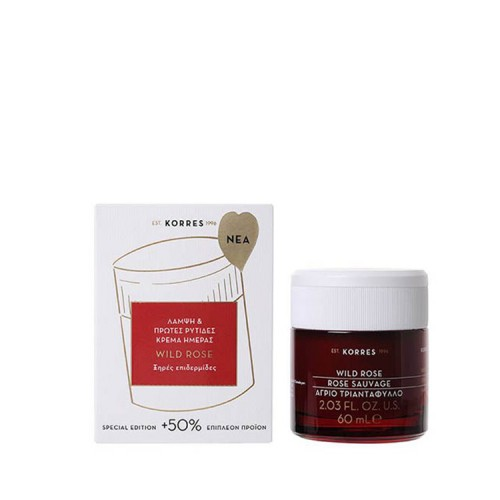 KORRES Wild ROSE DAY 24h Hydration Day Cream for Oily/Combination Skin 60ML