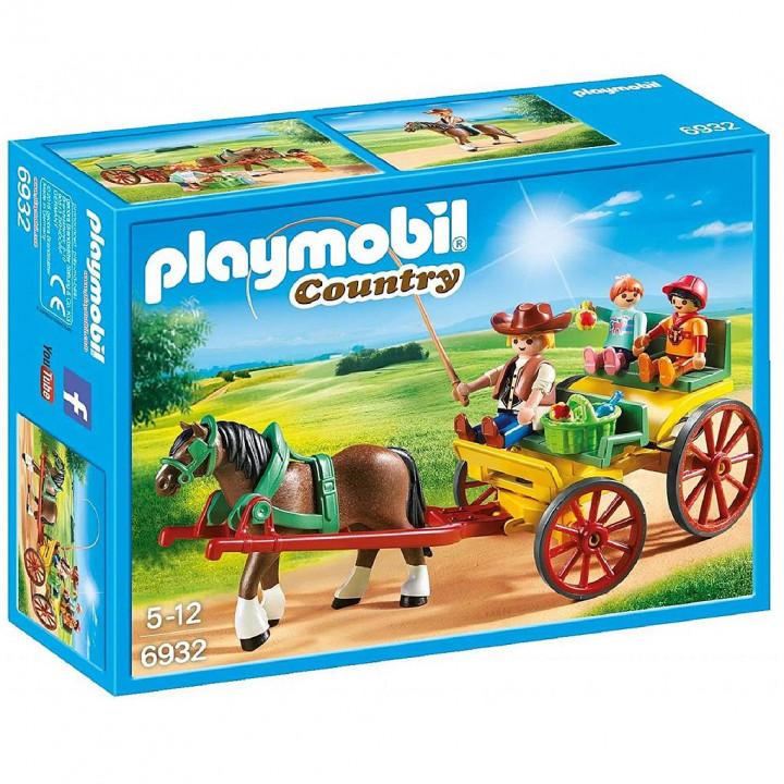 PLAYMOBIL 6932 - Άμαξα με οδηγό και παιδάκια
