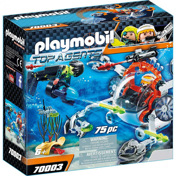 PLAYMOBIL 70003 - Υποβρύχιο σκάφος της Spy Team