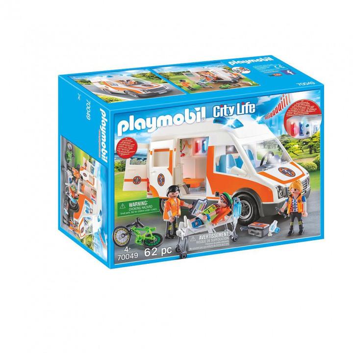 PLAYMOBIL 70049 - Ασθενοφόρο με Διασώστες