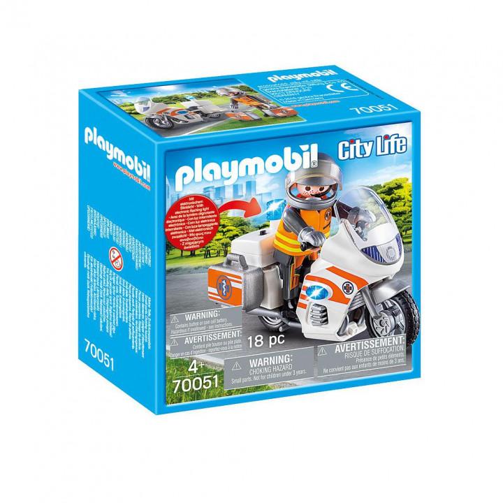 PLAYMOBIL 70051 - Διασώστης με Μοτοσικλέτα