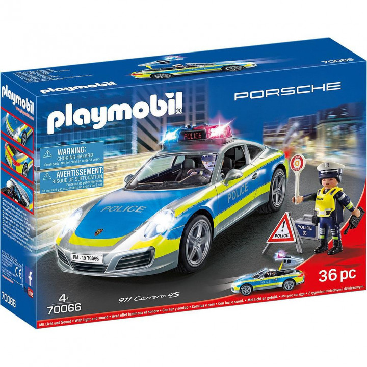 PLAYMOBIL 70066 - Porsche 911 Carrera 4S Αστυνομικό όχημα