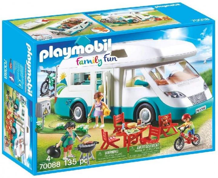 PLAYMOBIL 70088 - Αυτοκινούμενο Οικογενειακό Τροχόσπιτο