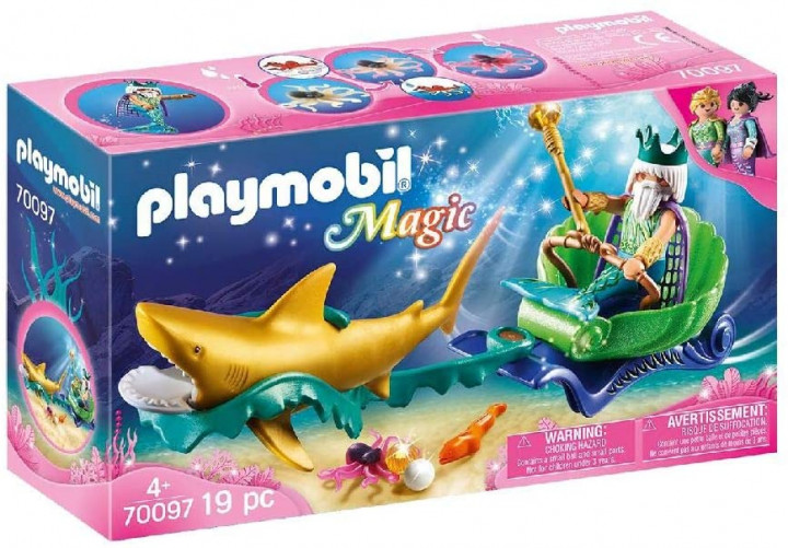 PLAYMOBIL 70097 - Βασιλιάς της Θάλασσας με άμαξα καρχαρία