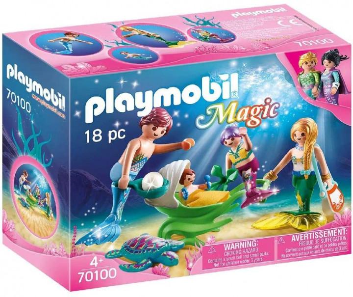 PLAYMOBIL 70100 - Γοργονο-οικογένεια με καροτσάκι-κοχύλι