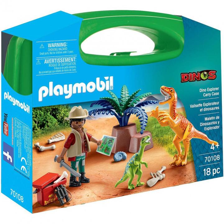 PLAYMOBIL 70108 - Maxi Βαλιτσάκι Εξερευνητής και δεινόσαυροι