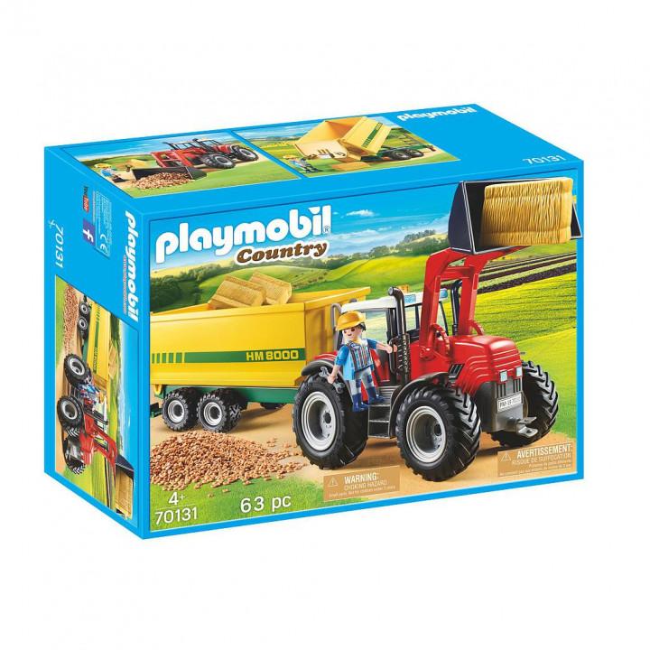 PLAYMOBIL 70131 - Μεγάλο Τρακτέρ με Ρυμούλκα Τροφοδοσίας