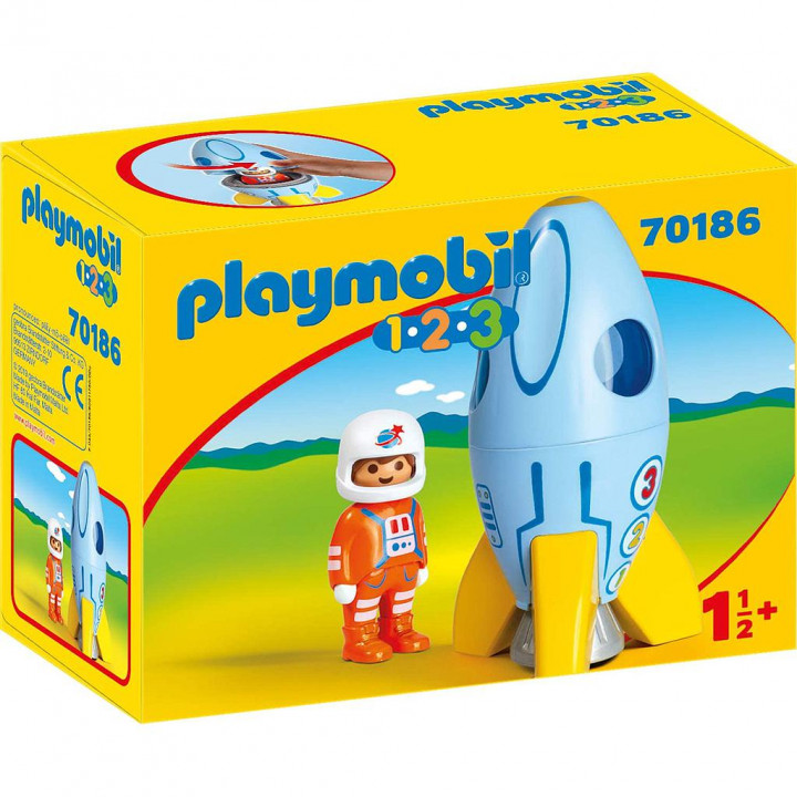 PLAYMOBIL 70186 - Αστροναύτης με πύραυλο