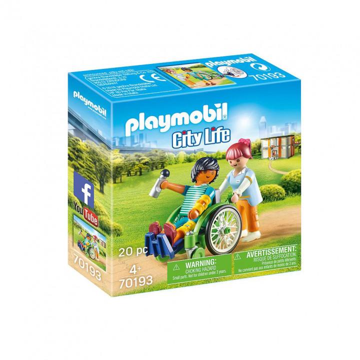 PLAYMOBIL 70193 - Ασθενής με καροτσάκι
