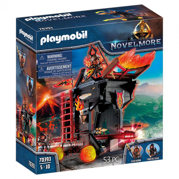 PLAYMOBIL 70393 - Πολιορκητική μηχανή φωτιάς του Μπέρναμ