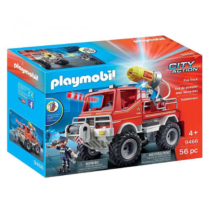 PLAYMOBIL 9466 - Όχημα Πυροσβεστικής με τροχαλία ρυμούλκυσης