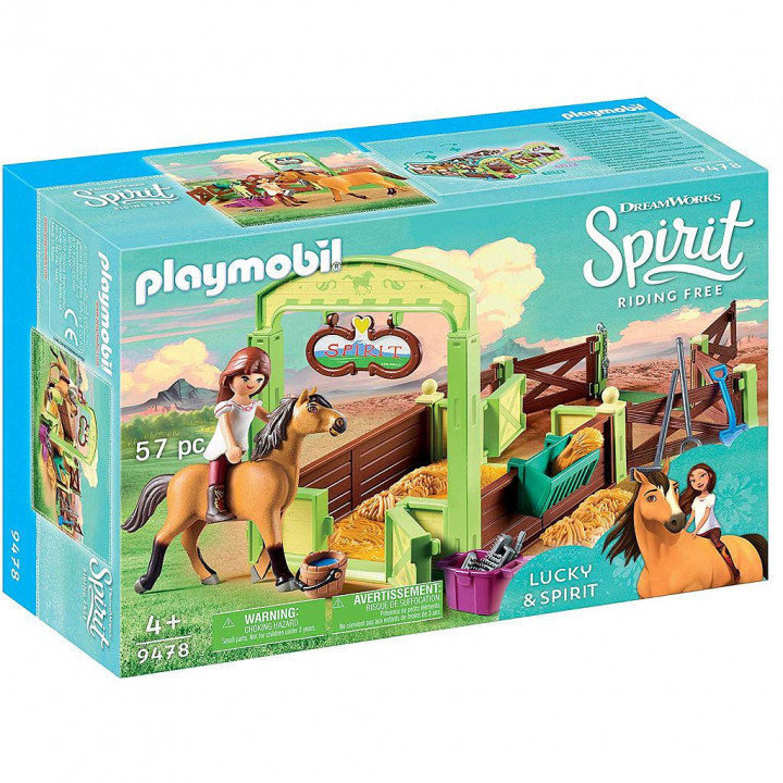 PLAYMOBIL 9478 - Η Λάκυ με το άλογο Σπίριτ
