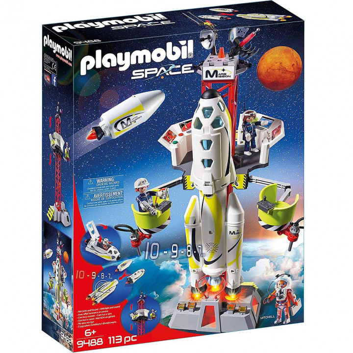 PLAYMOBIL 9488 - Πύραυλος διαστημικής αποστολής με σταθμό εκτόξευσης