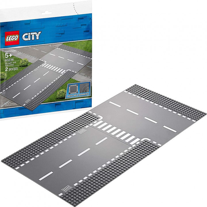 LEGO CITY STRAIGHT AND T JUNCTION