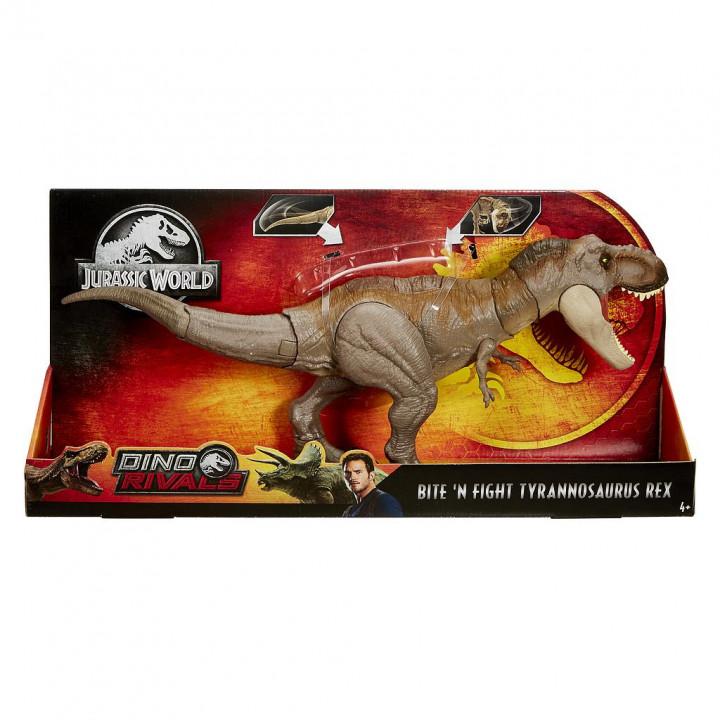 JURASSIC WORLD T-REX δεινόσαυρος με κινούμενη ουρά και κεφάλι