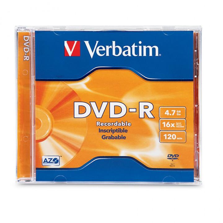 VERBATIM DVD ΜΕ ΠΛΑΣΤΙΚΗ ΘΗΚΗ