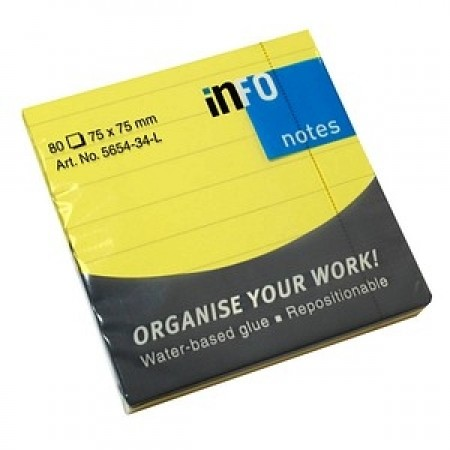 STICKY NOTES - INFO NOTES - YELLOW