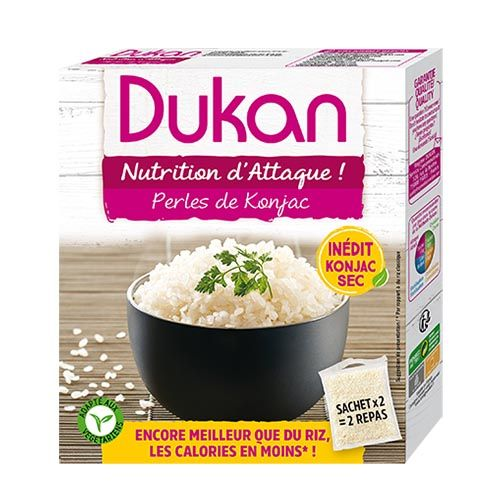 Dukan Pre-cooked Pearls with konjac flour (Ρύζι) 225g