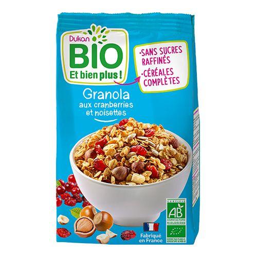 Dukan Bio Granola Cranberries Hazelnut (350g)