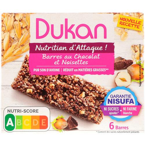 Dukan Hazelnut - Chocolate Oat Bran Bars