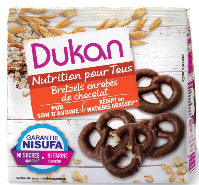Dukan Oat Bran Pretzels Chocolate Coated 100g