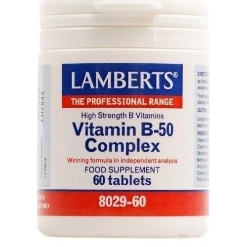 Lamberts Vitamin B-50 Complex 60 Tablets
