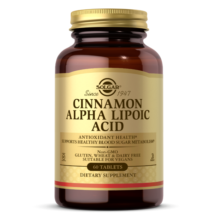 Solgar Cinnamon Alpha Lipoic Acid 60 Capsules