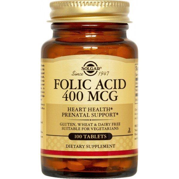 Solgar Folacin (folic Acid) 100 tabs x 400mcg