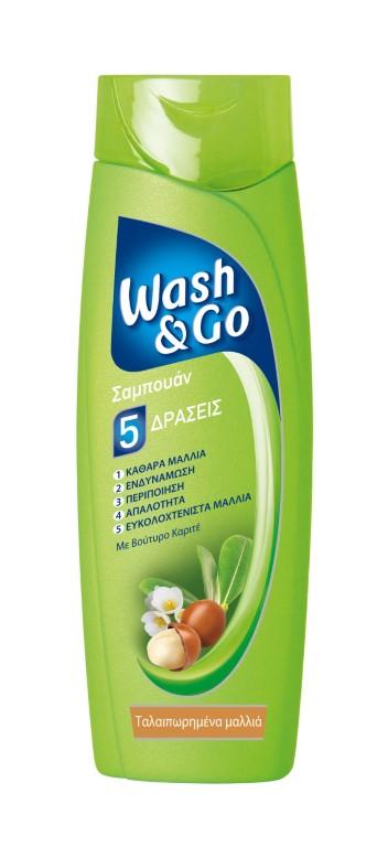WASH & GO SHAMPOO DESTROYED HAIR WITH SHEA 400ML