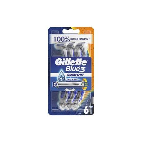 GILLETTE 6s BLUE 3 COMFORT RAZORS