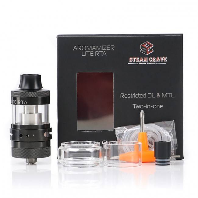 AROMAMIZER LITE RTA 2 IN 1 DL AND MTL BLACK