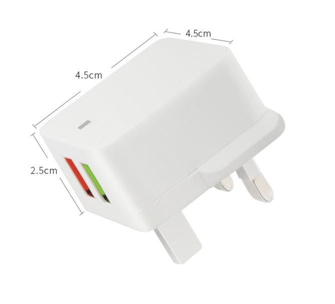 DOUBLE USB 2A ADAPTOR PLUG
