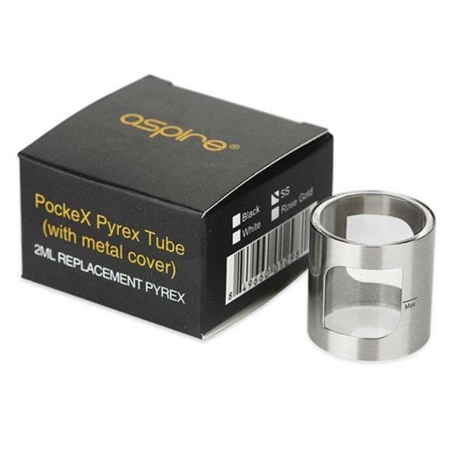 POCKE X GLASS TUBE SILVER