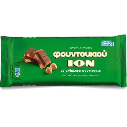 ION Milk Chocolate with whole hazelnuts 100g