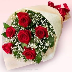 Bouquet of 6 roses - RED