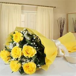Bouquet of 6 roses - YELLOW