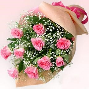 Bouquet of 10 roses - PINK
