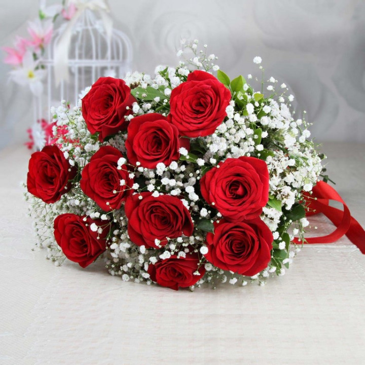 Bouquet of 10 roses - RED