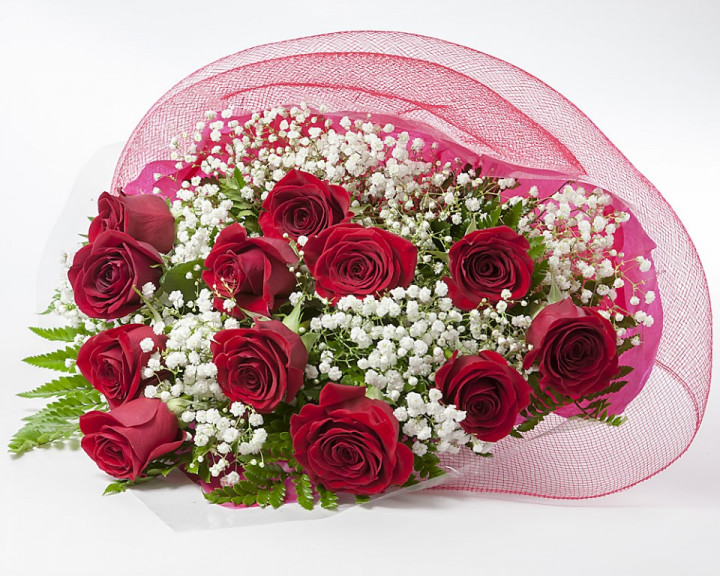 Bouquet of 12 roses - RED