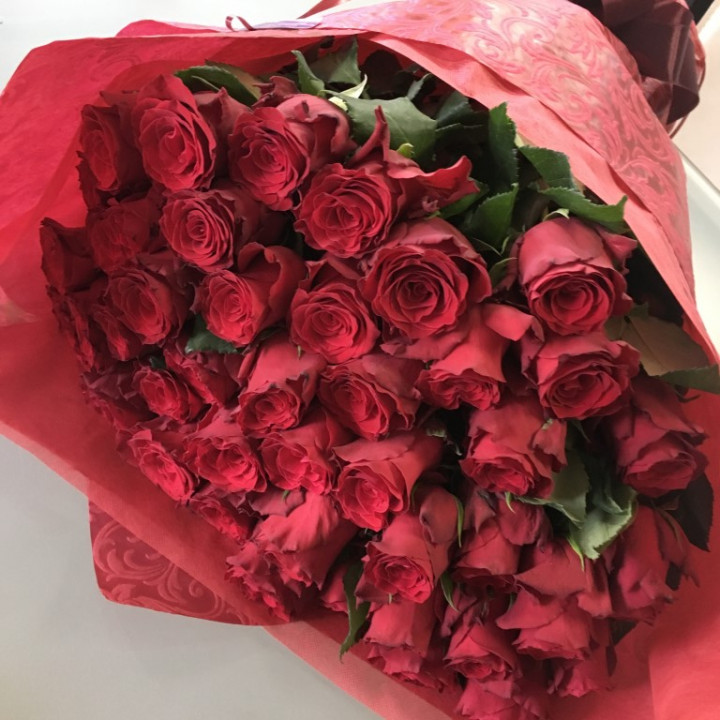 Bouquet of 100 roses - RED